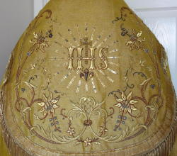 Cloth of Gold Cope, Antique French gold bullion embroidery