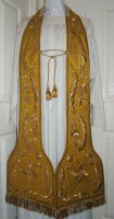Cloth of Gold Antique Preaching Stole