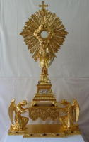 Antique French Baroque Exposition Monstrance and Throne