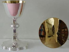 Solid sterling Silver Gothic Chalice