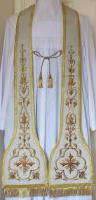 Cloth of Silver Preaching Stole