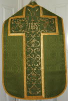 Roman Vestments machine embroidered cross shaped panel