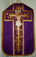 Roman Vestments Crucifixion Embroidered