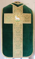 Green French Latin Vestment