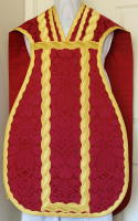 Red French Latin Vestment