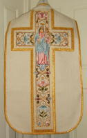 Roman Vestments Our Lady and Child embroidered