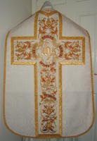 Roman Vestments traditional Benedictus design embroidered