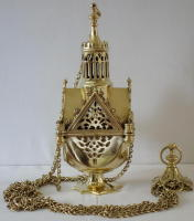 Gothic Brass Thurible 6686