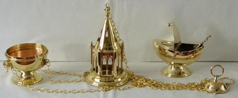 Westminster Gothic Tower Thurible and Boat